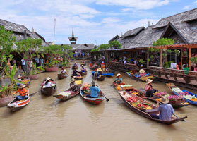 Floating Markets near Bangkok