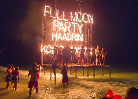 Full Moon Party at Haad Rin