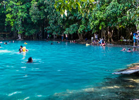 Swimming in the Emerald Pool Krabi